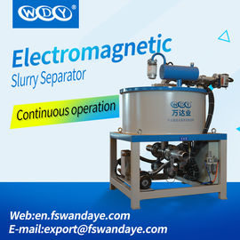 China 50W Wet Magnetic Separator Water / Oil Double Cooling For Iron Elimination Ceramic ore kaolin slurry supplier