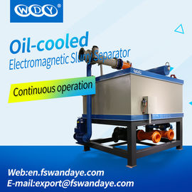 China 380ACV Oil Cooling Wet High Intensity Magnetic Separator For Feldspar / Clay kaolin ceramic slurry supplier